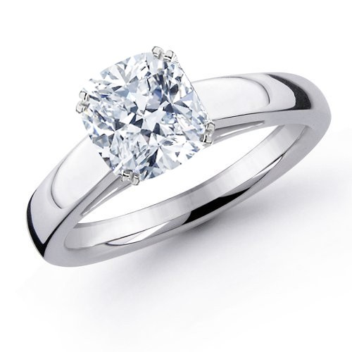 GIA Certified Diamond Solitaire Engagement Ring With a Cushion