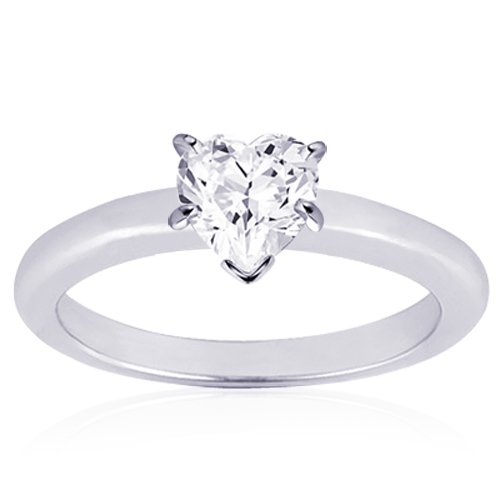 GIA Certified Diamond Solitaire Engagement Ring With a Heart  Cu