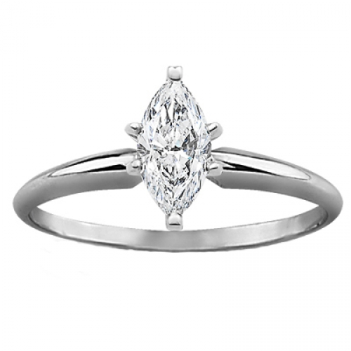 GIA Certified Diamond Solitaire Engagement Ring With a Marquise
