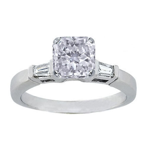 GIA Certified Diamond Solitaire Engagement Ring With a Radiant